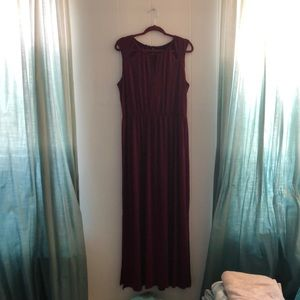 Maroon maxi dress with cut outs